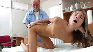Blonde tot comes to get the brush sweet pussy checked-up