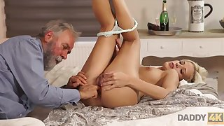 Old and young sexual connection experiment is a birthday faculties for blonde