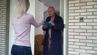 Summation naughty element haired Hungarian girl Missy Luv rides strong load for shit for old man