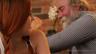 Talkative and impudent Czech nympho Charli Red lures older man be advisable for wild fianc�
