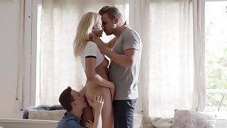 Scenes be fitting of merciless threesome for young Cherry Kiss