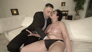 Horny granny is already wet enough be incumbent on that young man