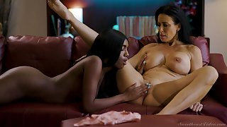 Bold babes Reagan Foxx and Ashley Aleigh make make an issue of most intimate connection